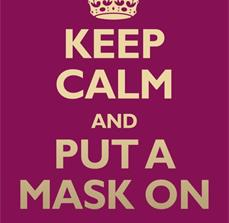 Keep Calm & Mask Germ Prevention Poster