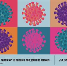 Warhol Inspired Germ Prevention Poster