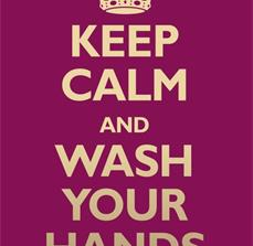 Keep Calm & Wash Germ Prevention Poster