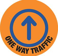 One Way Traffic Floor Graphics