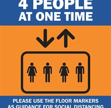 Maximum 4 People Elevator Sign