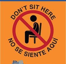 Don't Sit Here Social Distance Sign