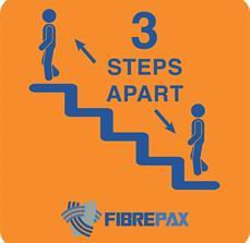 3 Steps Apart Sign