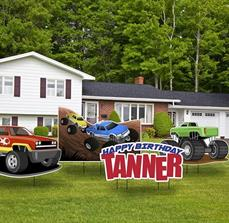 Monster Truck Yard Signs