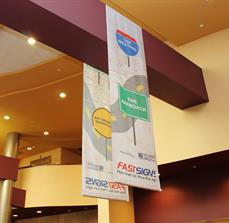 Corporate Event Hanging Signs