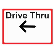 Cone-Drive Thru Left