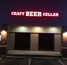 Craft Beer Cellar Building Letters