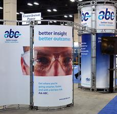 Branded trade show displays
