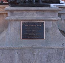 Statue Plaque