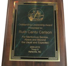 Leadership award plaques