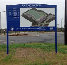 Charlotte Soccer Academy Site Map Sign