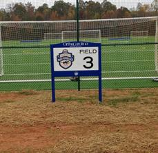 Charlotte Soccer Academy Numbered Field Sign