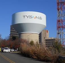 Tyson Partnership Water Tower Vinyl Lettering
