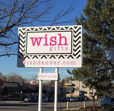 Wish Gifts Building Sign