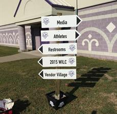 World Indoor Lacrosse Championship Wayfinding Sign