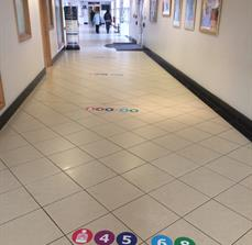 Custom Hospital Floor Graphics