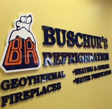 Buschurs Refrigeration Wall Letters