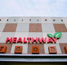Healthway Foods Building Letters