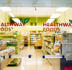 Healthway Foods Window Lettering