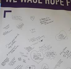 Pancreatic Cancer Action Network Autograph Banner