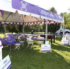 Pancreatic Cancer Action Network Outdoor Banner, Yard signs, and Tents