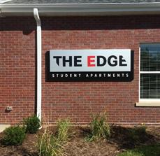 The Edge Apartments Building Sign