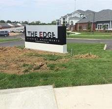The Edge Apartments Monument Sign