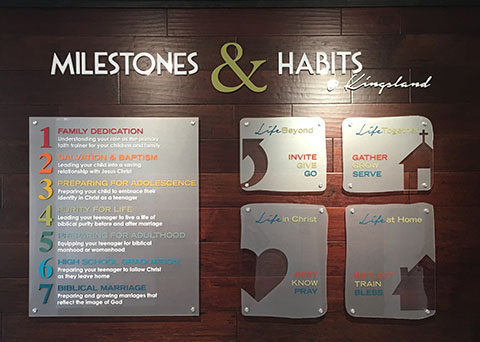 dimensional wall decals and lettering