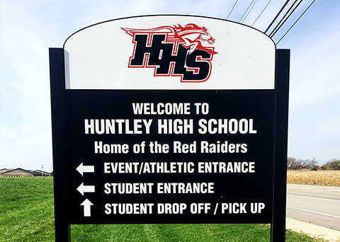 directional signage huntley high