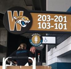Branded Stadium Signs
