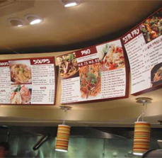 Asian Fast Food Menu Boards