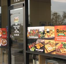 Fast food window graphics