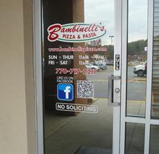 Fast food window decals