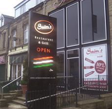 Restaurant illuminated signs
