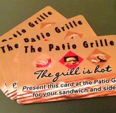 Restaurant promo cards