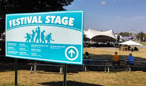 festival stage banner