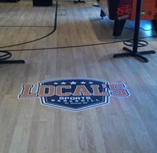 Restaurant floor graphics