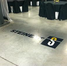 Convention floor graphics