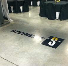 Convention floor graphics