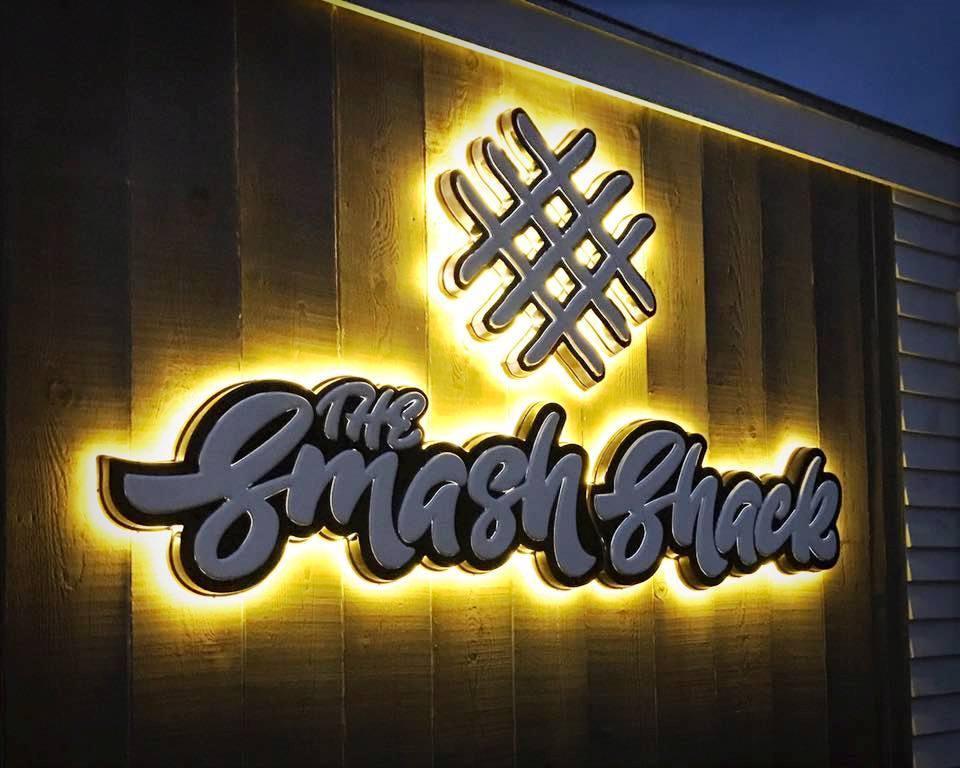 The Smash Shack food truck backlit logo
