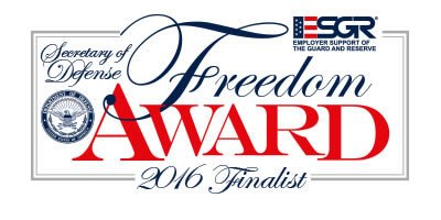 FASTSIGNS® SELECTED AS A FINALIST FOR THE 2016 SECRETARY OF DEFENSE EMPLOYER SUPPORT FREEDOM AWARD