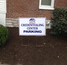 Political campaign parking signs