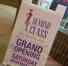 Grand opening sidewalk sign