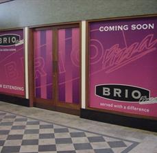 Restaurant Coming Soon window graphics