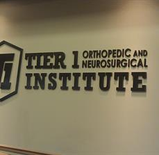 Medical center wall lettering
