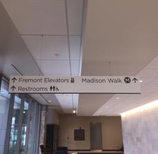 Medical office wayfinding signs
