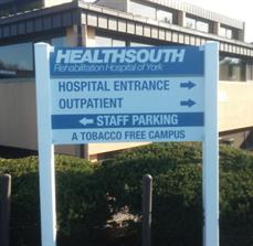 Hospital directional signs
