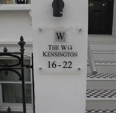 Hotel address signage