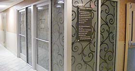 Office glass graphics