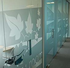 Library room glass decals